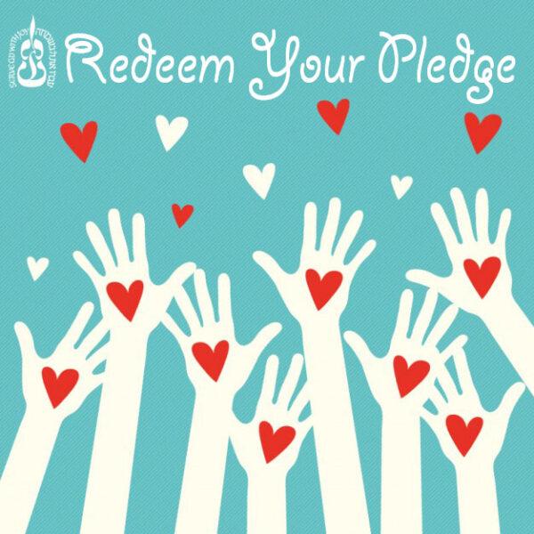 redeem your pledge